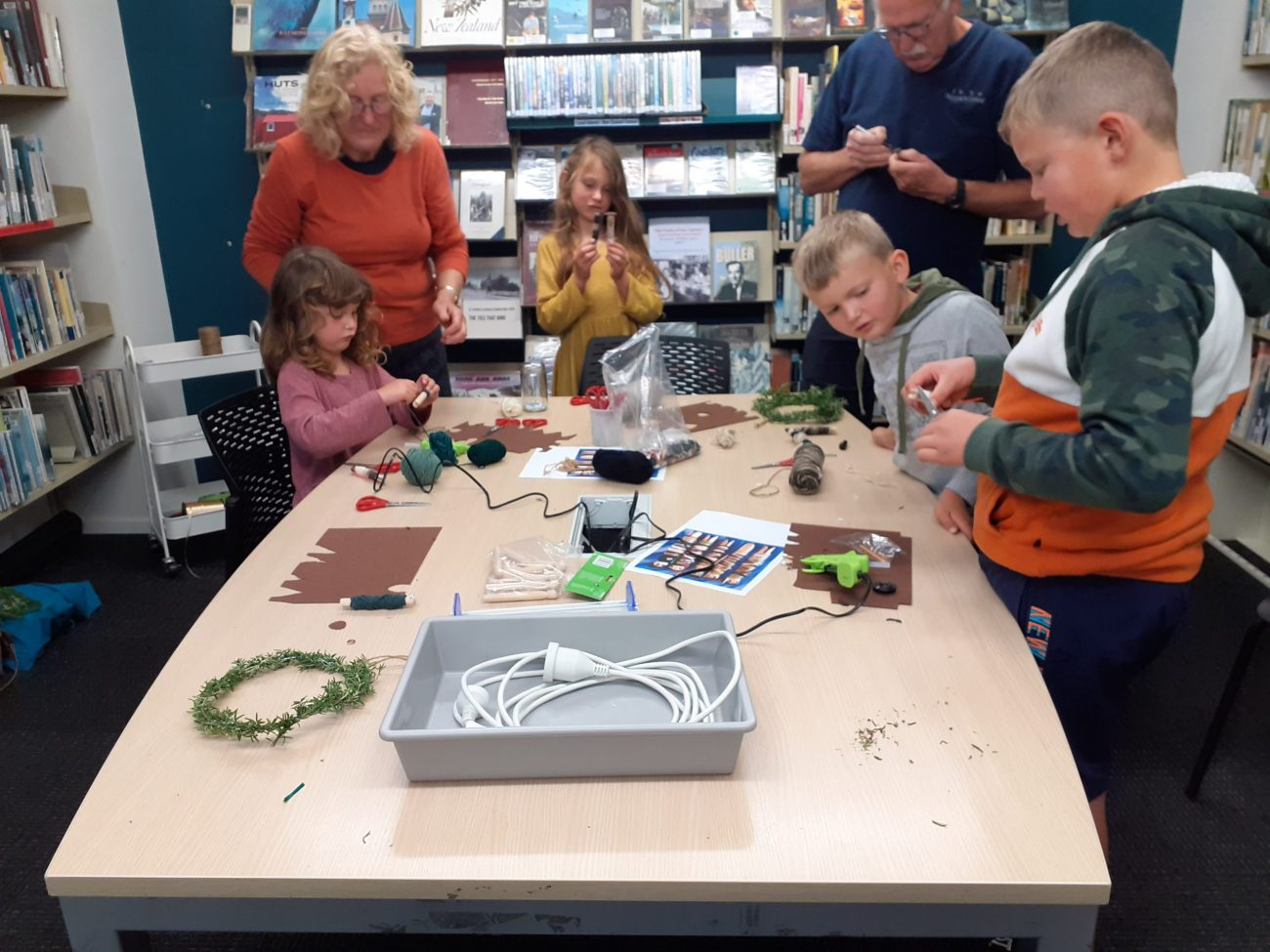 Anzac crafts at the library